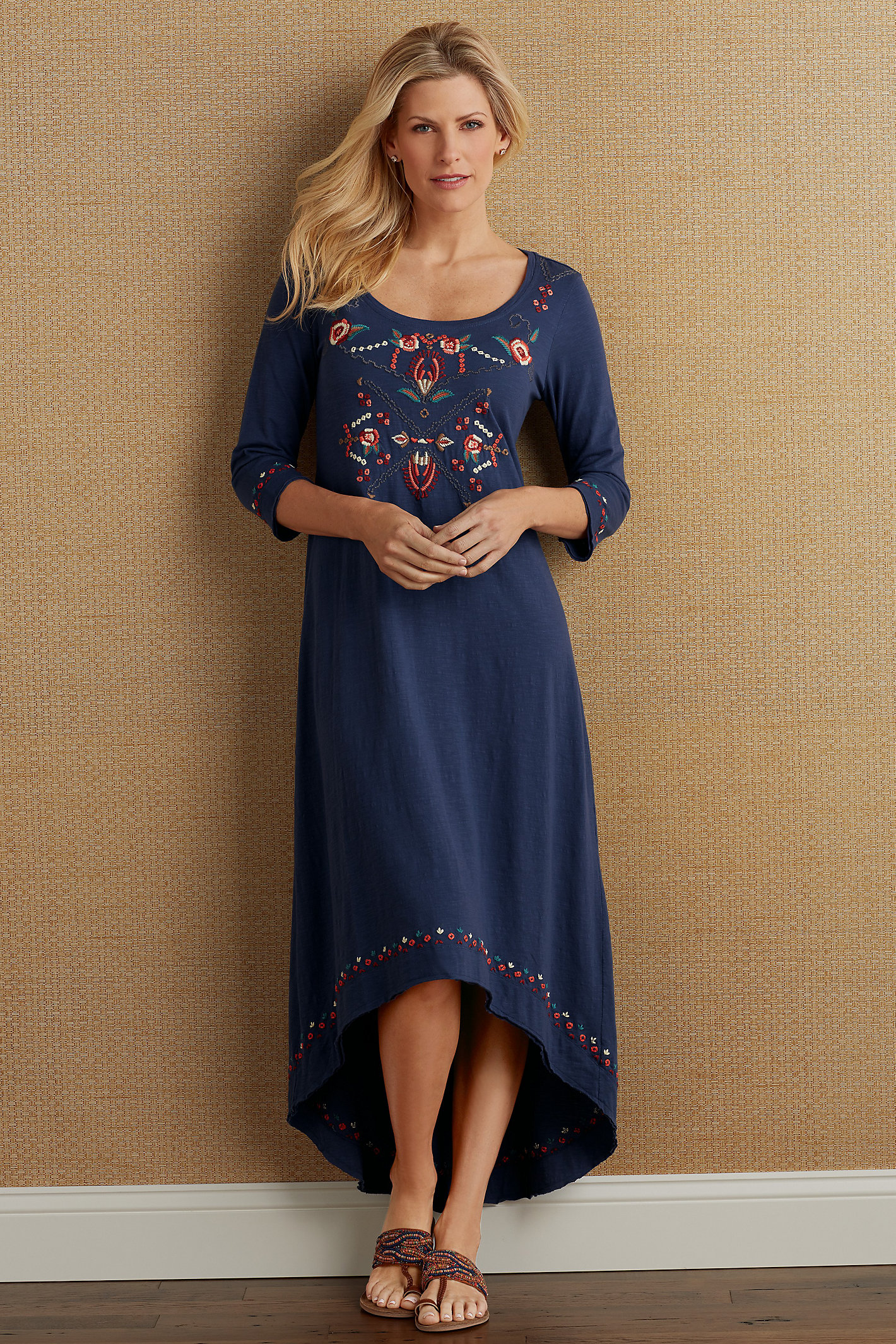 Pt Valencia Embroidered Dress