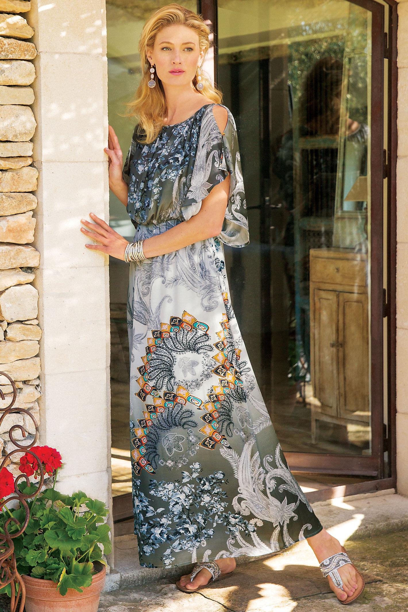 Abstract Paisley Dress