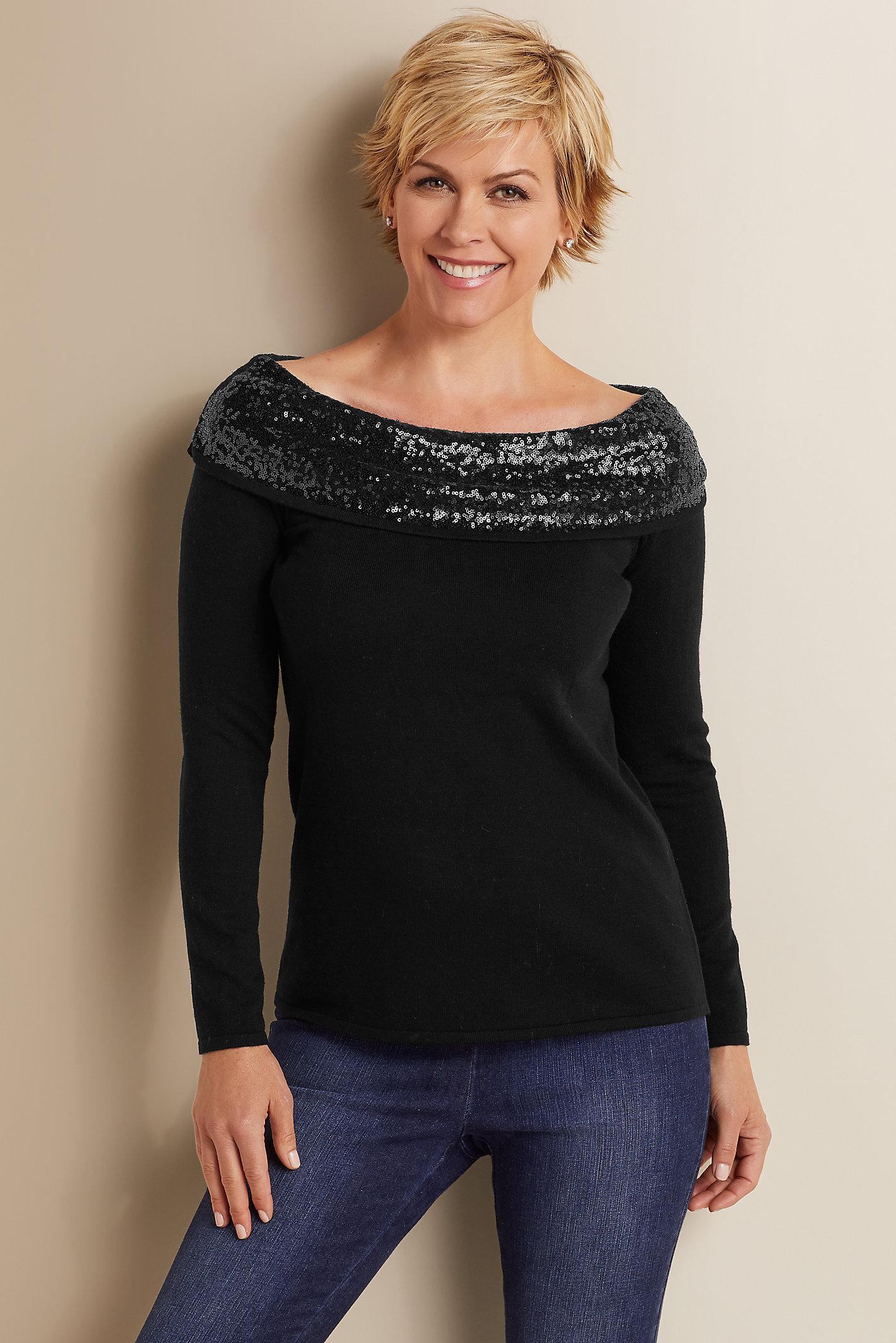Raven Sequin Sweater