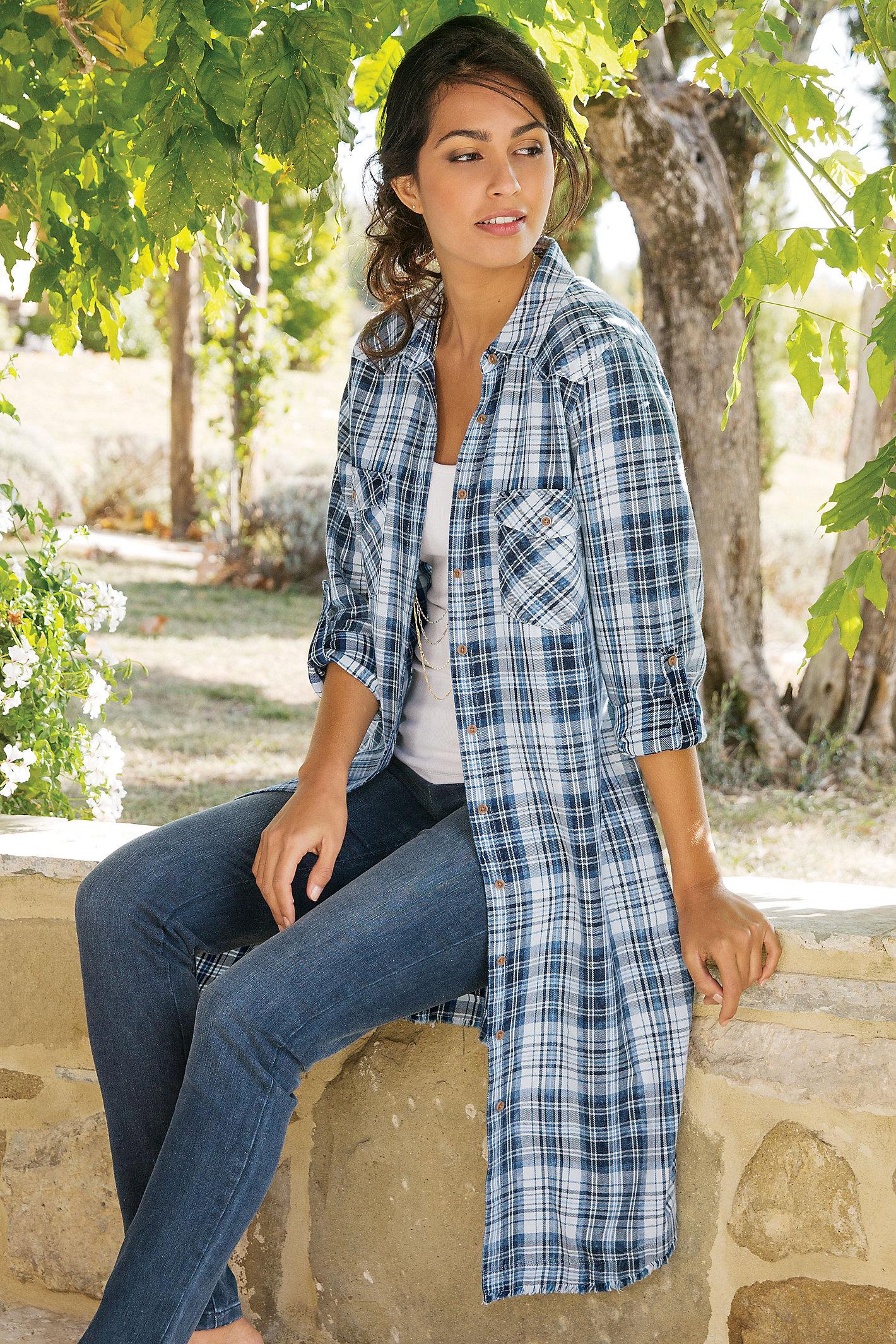 Penelope Plaid Shirtdress