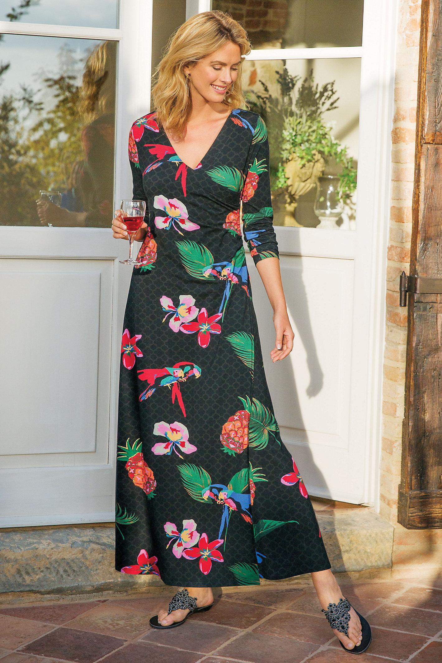 Wear Anywhere Tropical Dress