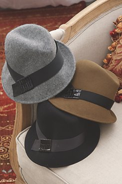 Grey, Black and Brown Fedora Hats