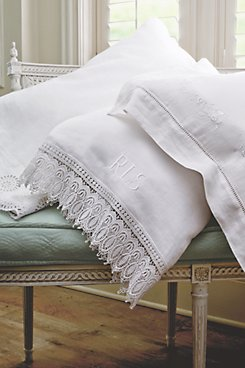 Monogrammed Vintage Pillowcases