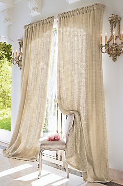 Raw Silk Woven Drapery Panel