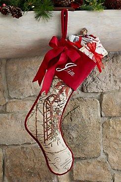 Brocante Holiday Sleigh Stocking