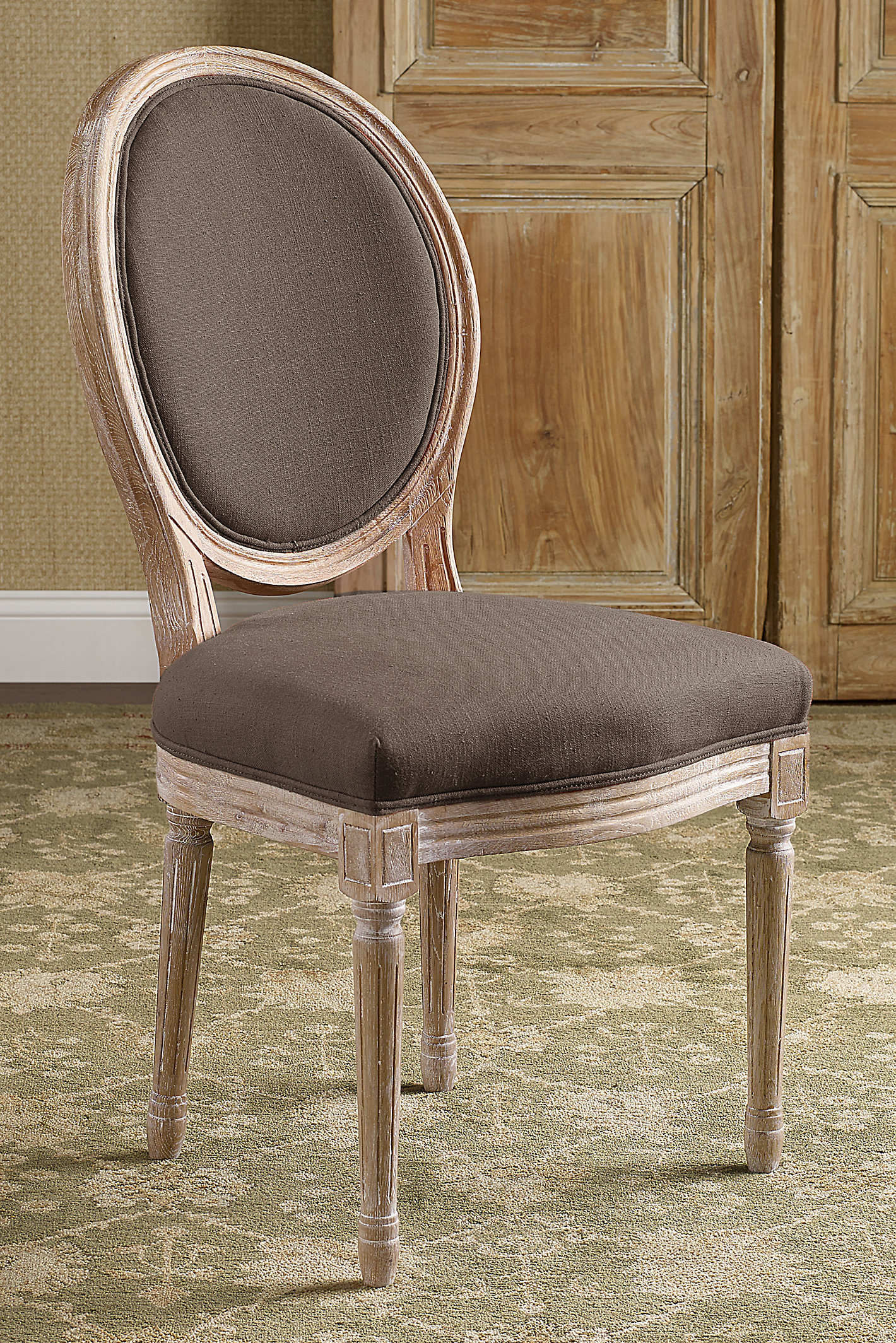 Oval Back Bergere Side Chair