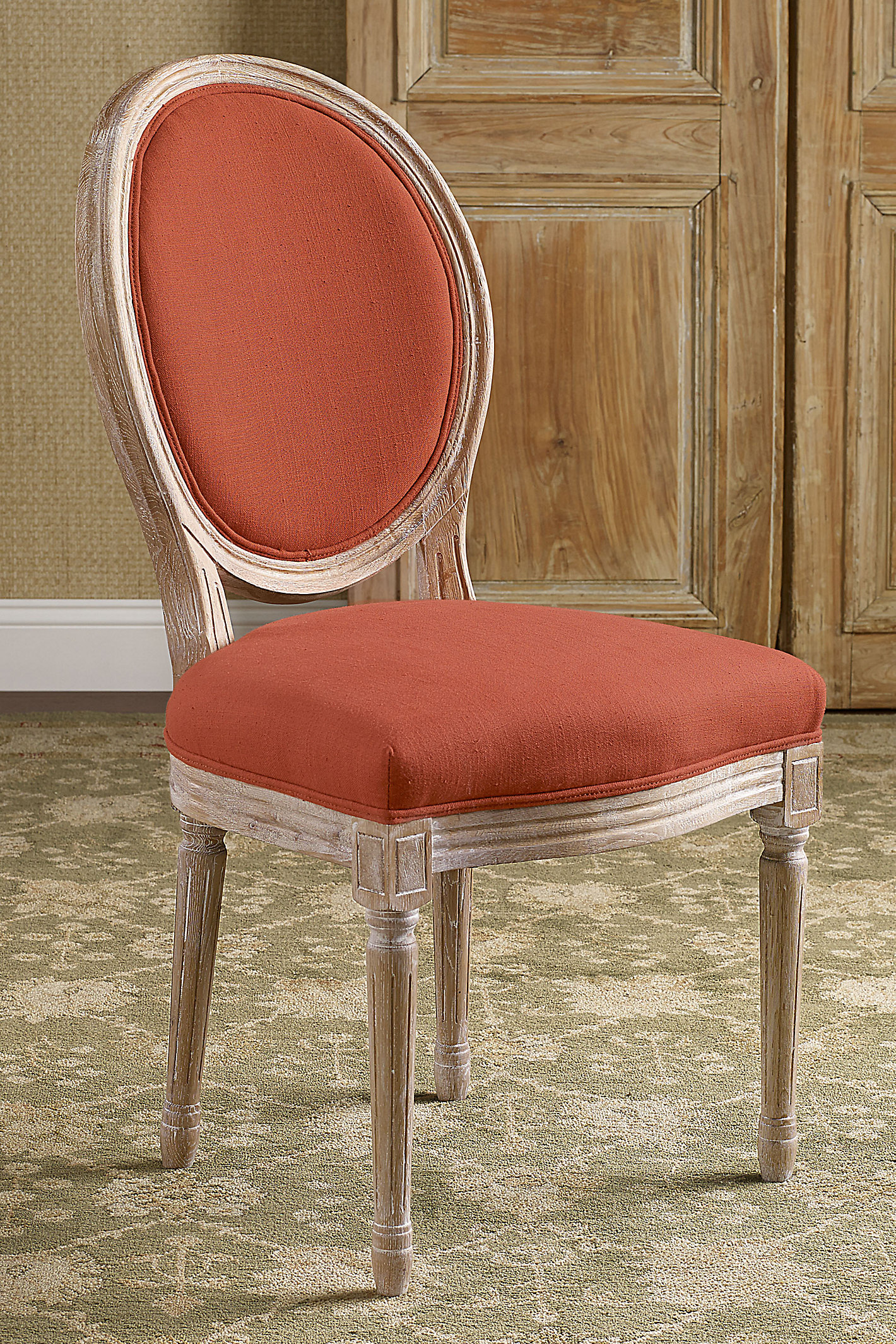 OVAL BACK BERGERE WOOD SWATCH