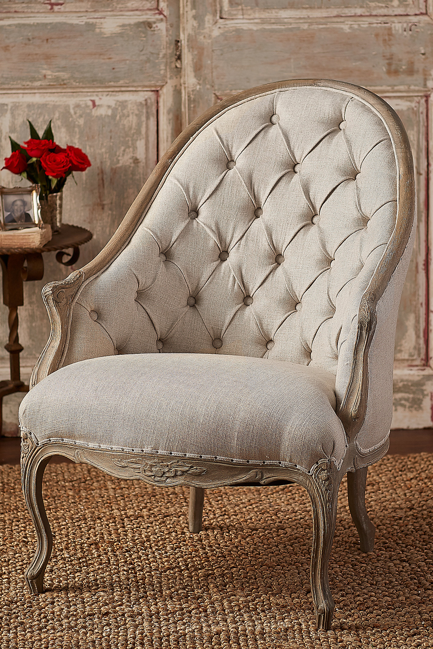 CHATEAU POUGET TUFTED CHAIR