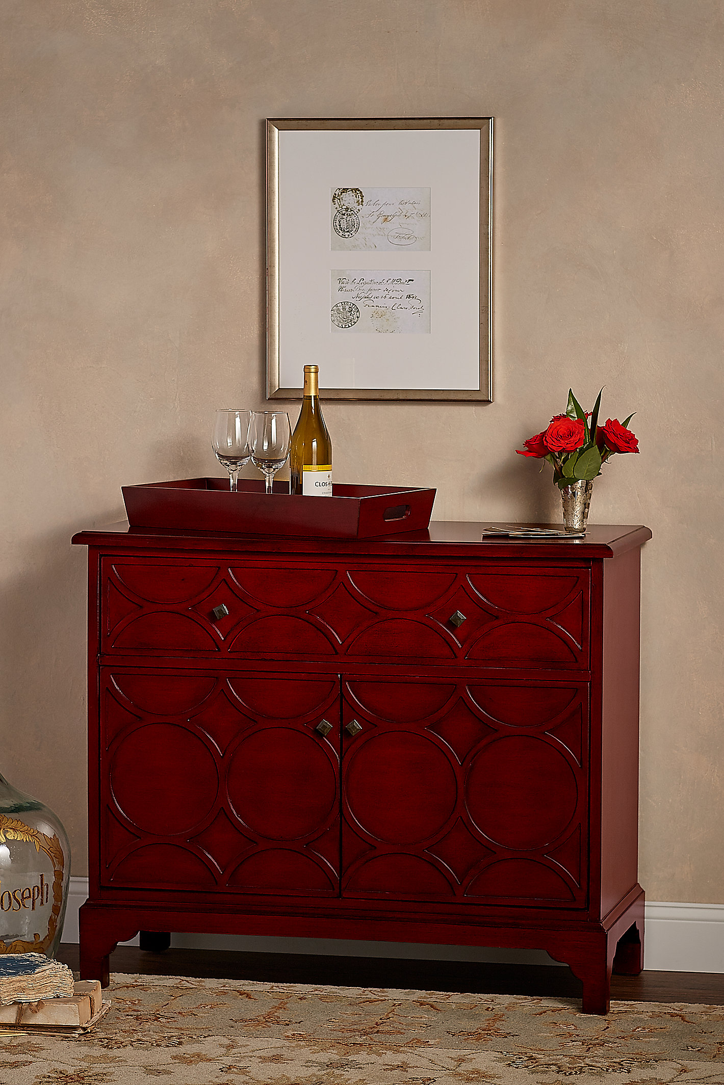 HALMSTAD BUFFET AND WINE RACK
