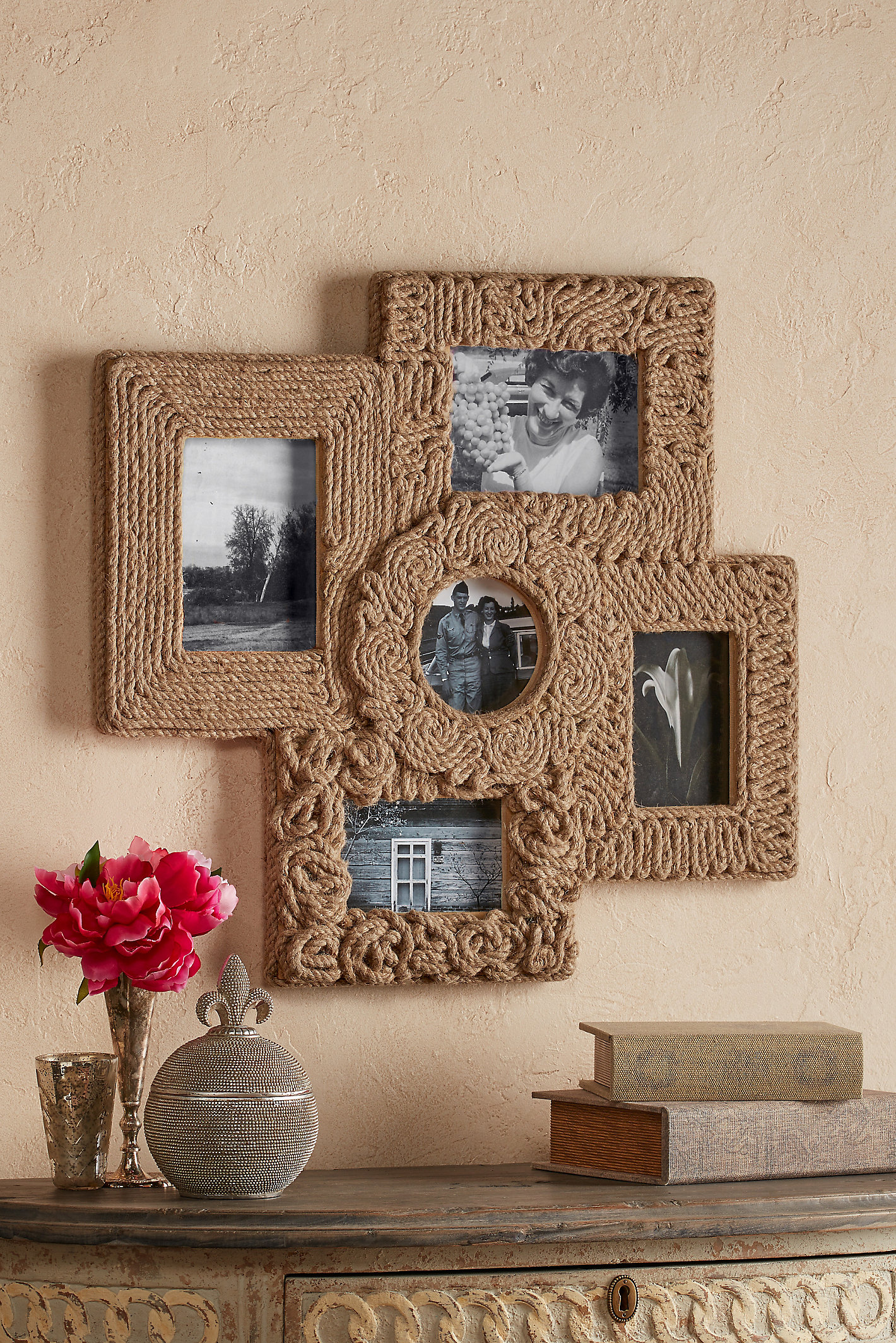 JUTE WRAPPED COLLAGE FRAME