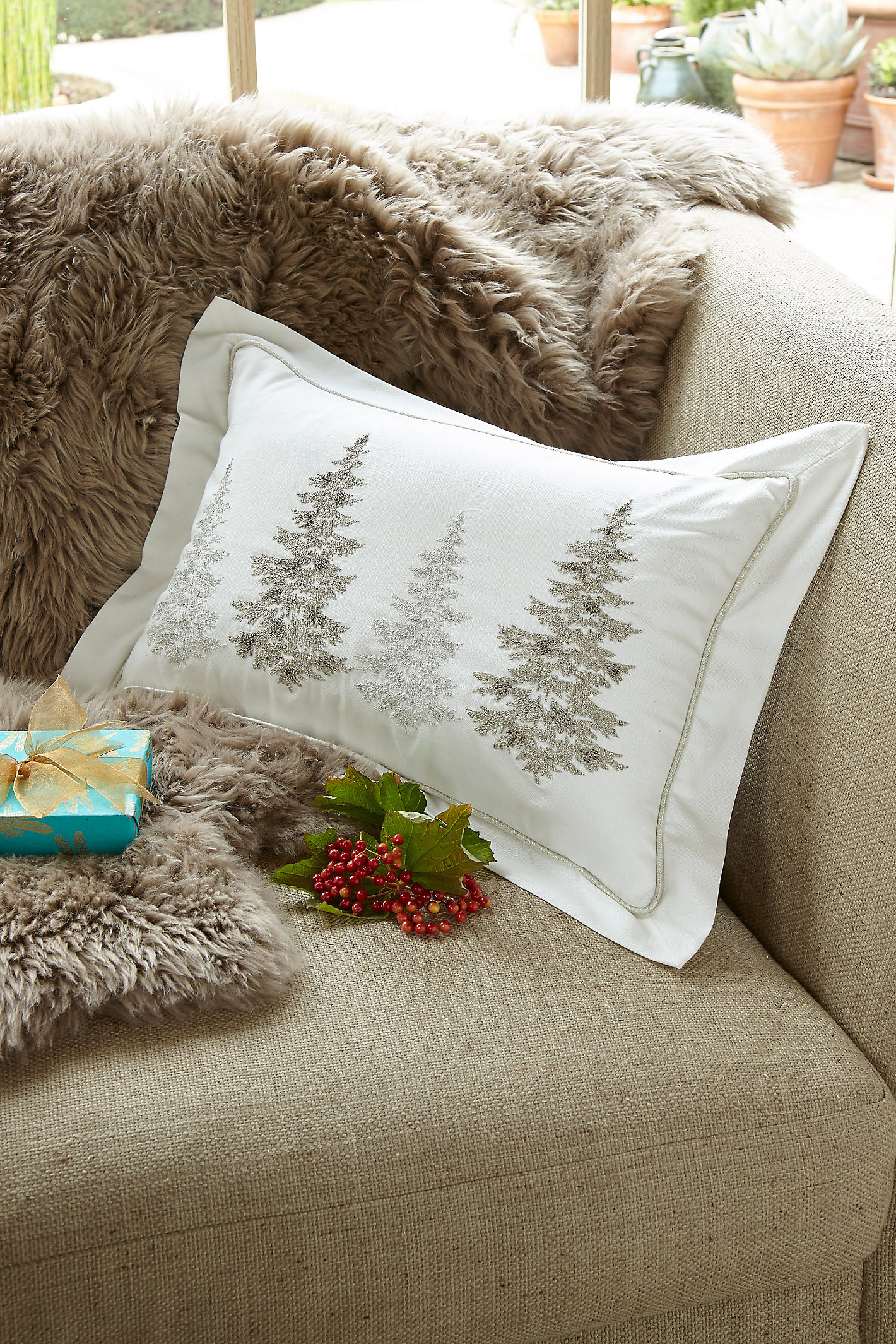 FROSTY FOREST PILLOW