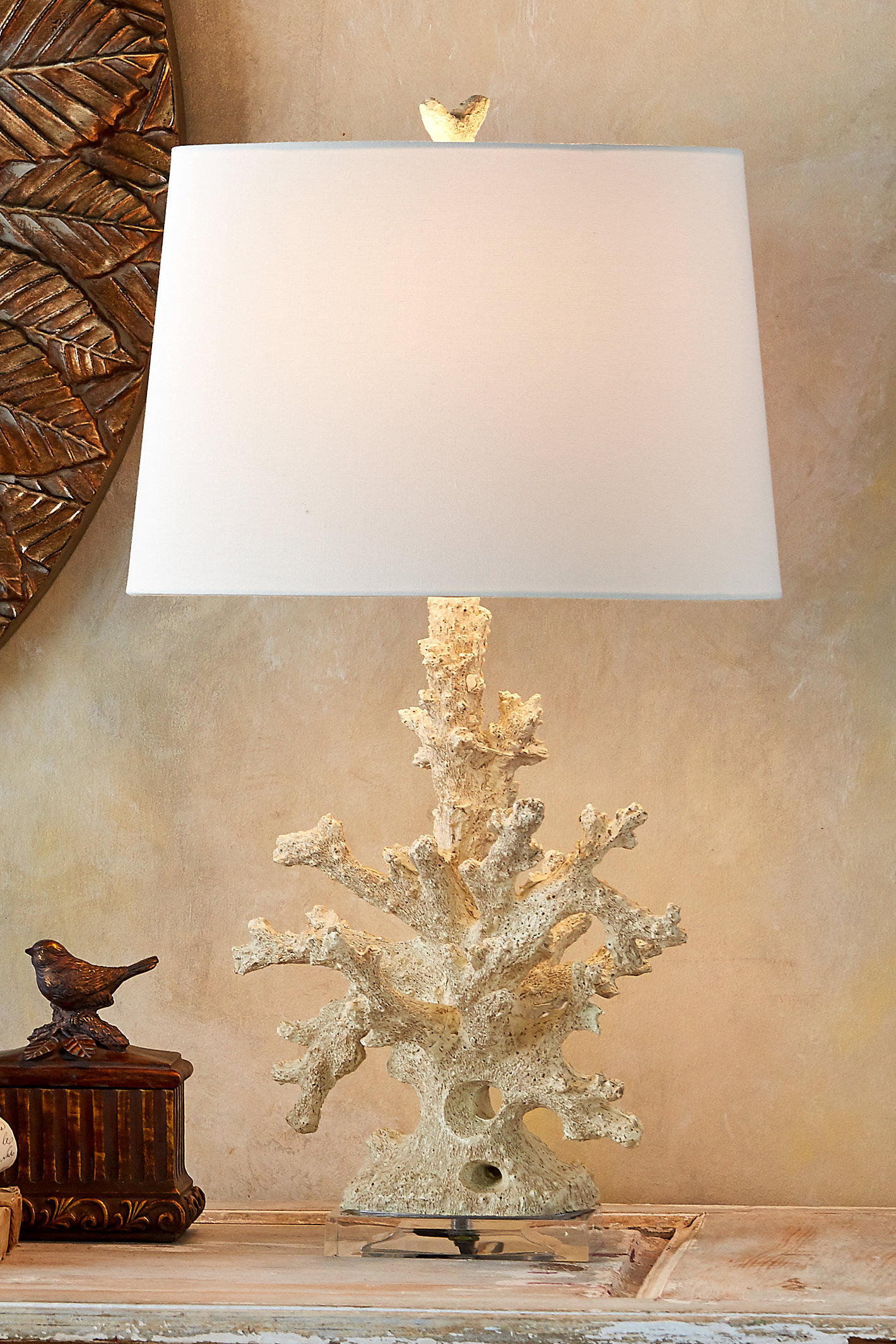 Coral Cue Table Lamp--set Of 2