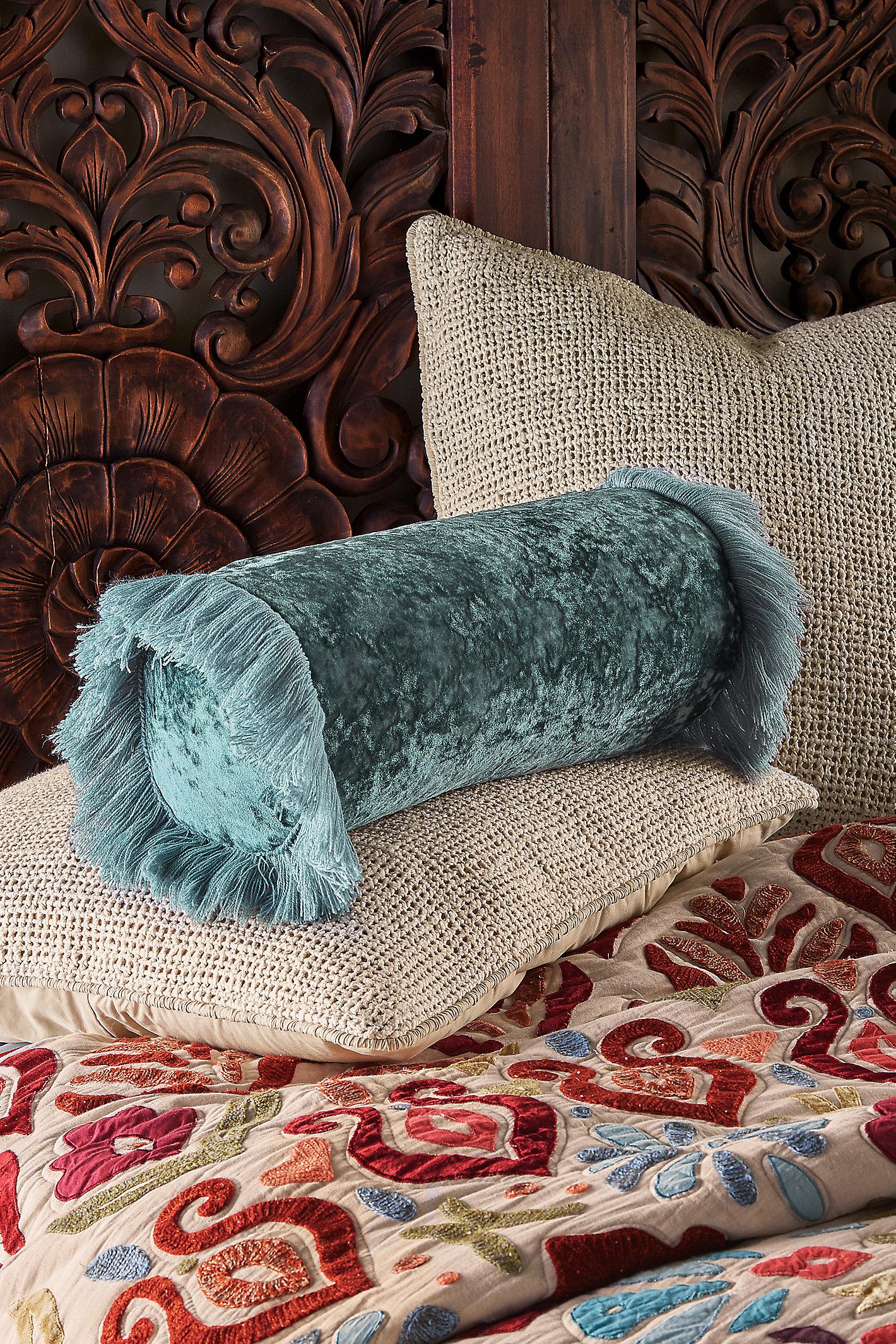 Alyssa Velvet Bolster Pillow
