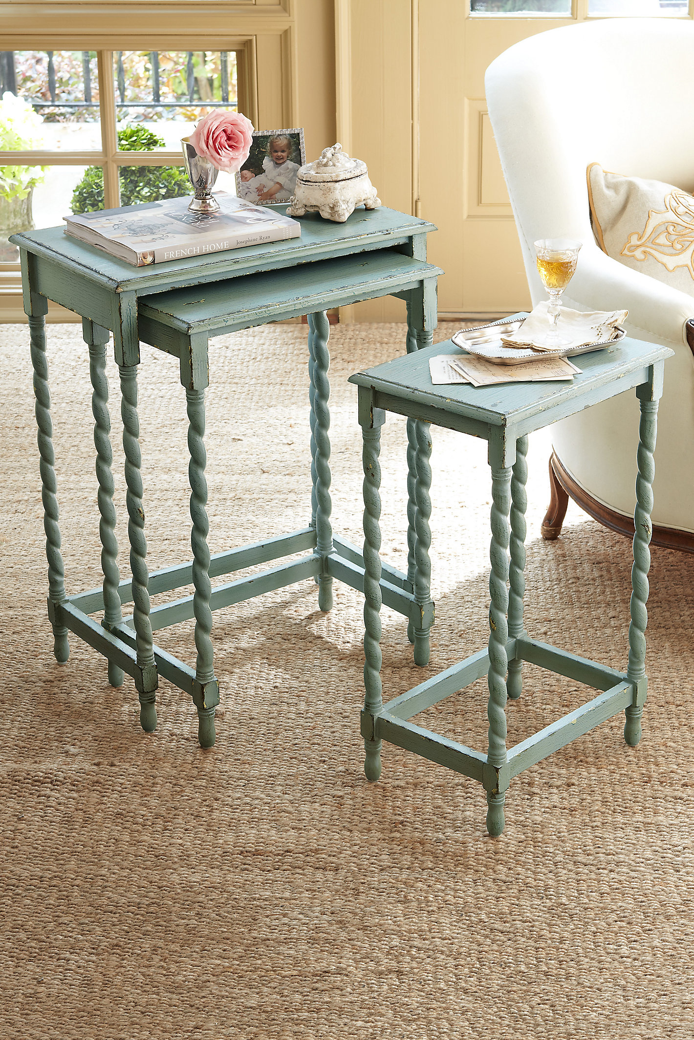 Riviera Nesting Tables Wd Swtc