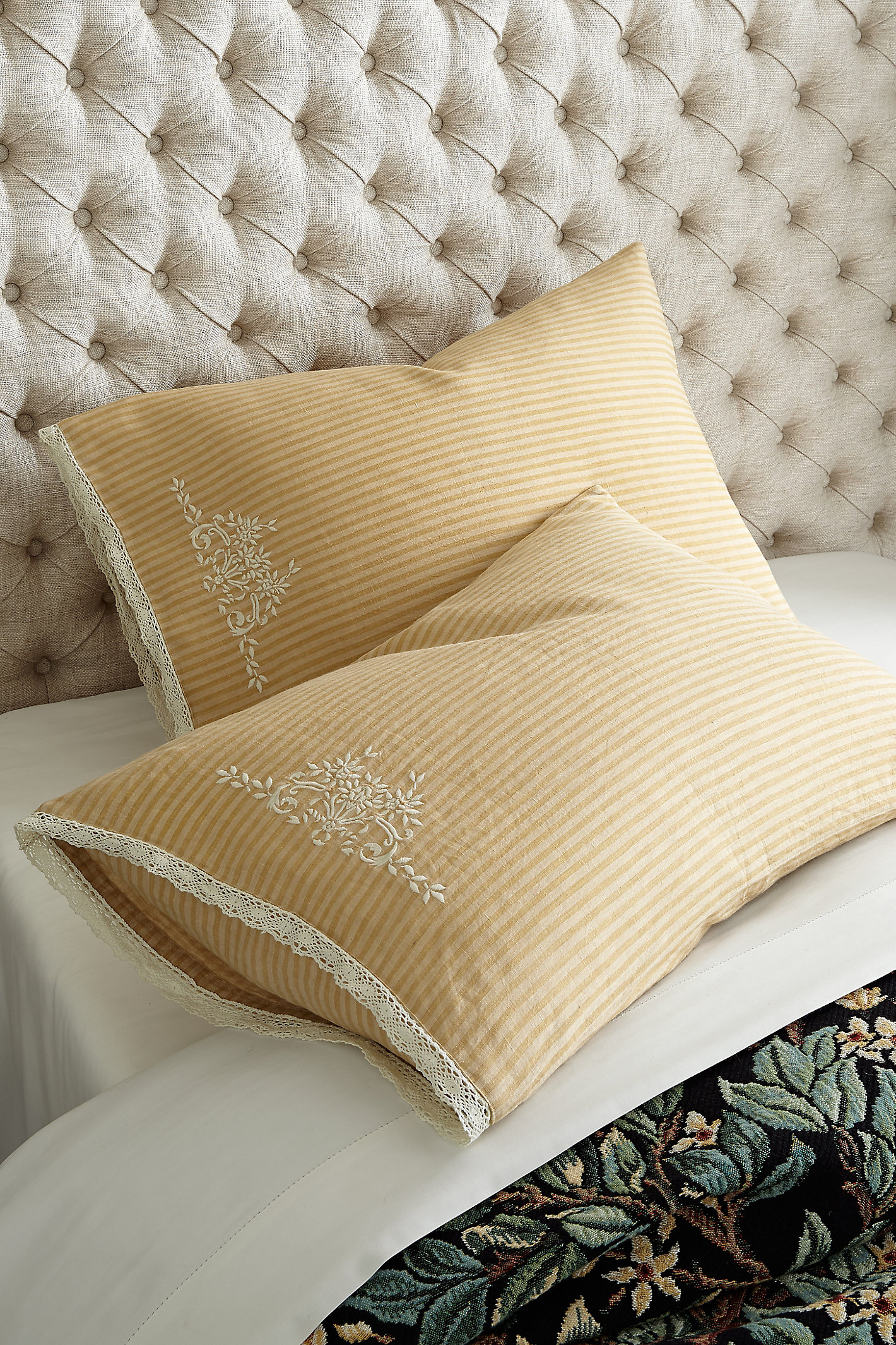 Ticking Stripe Pillowcase Pair