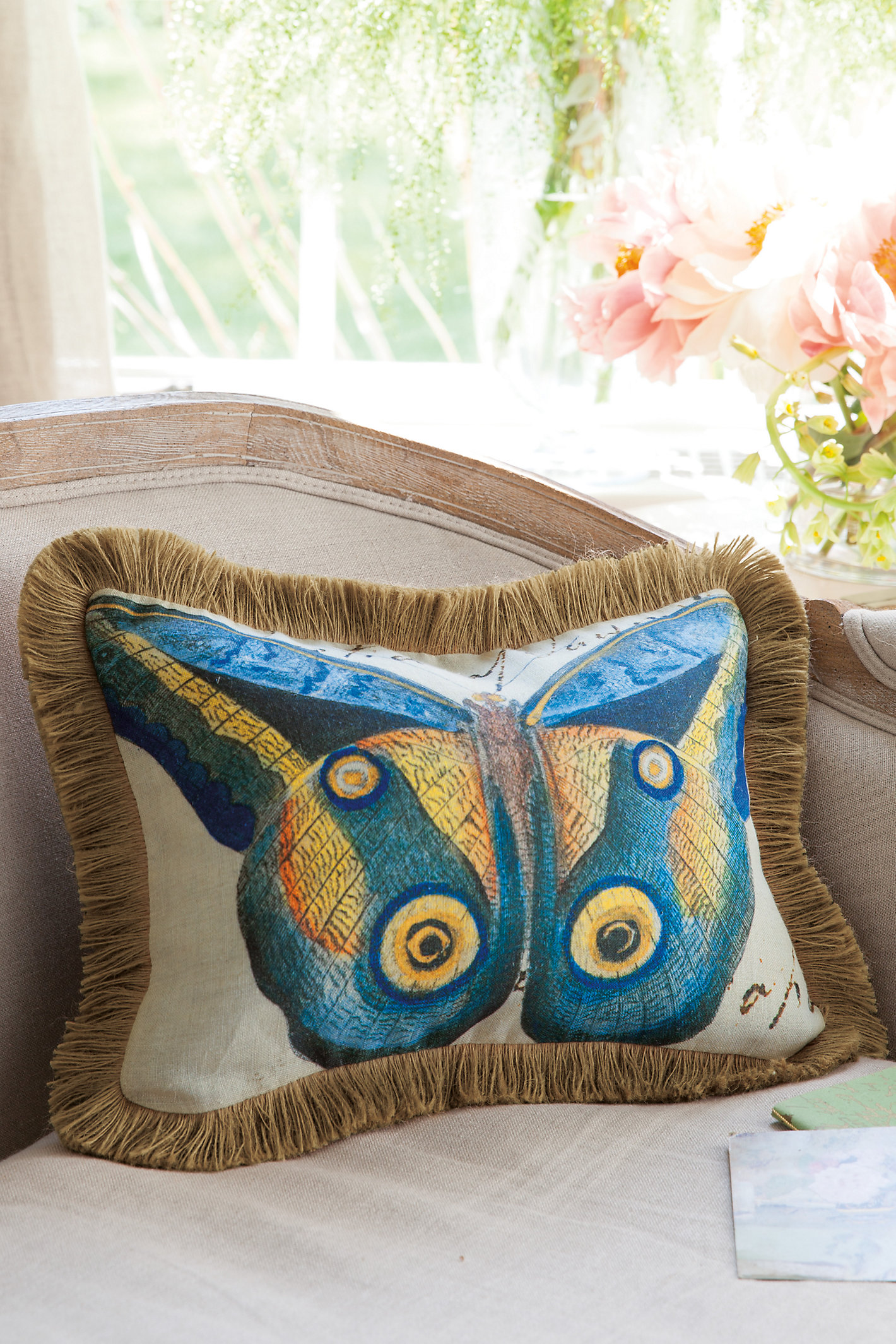 Mariposa Fringed Pillow