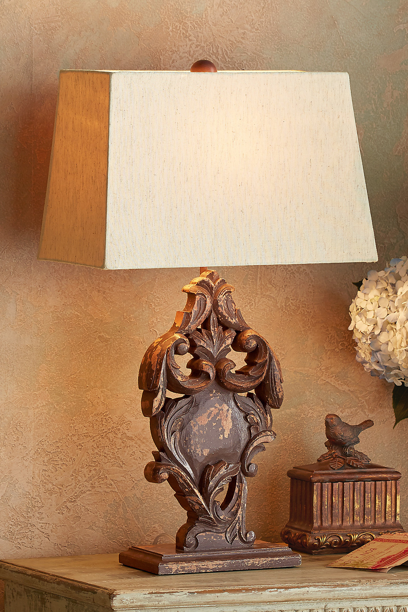 Taza Carved Table Lamp