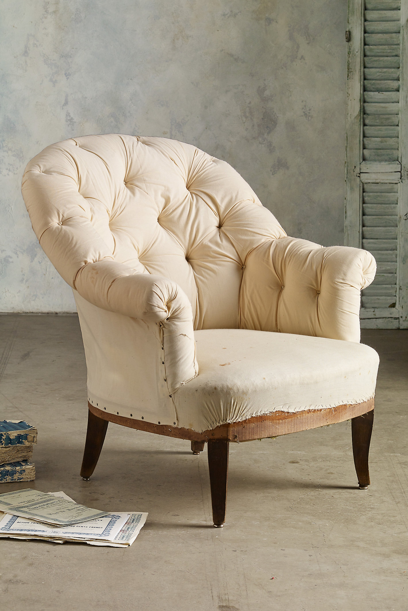 Tufted Bergere Chairs