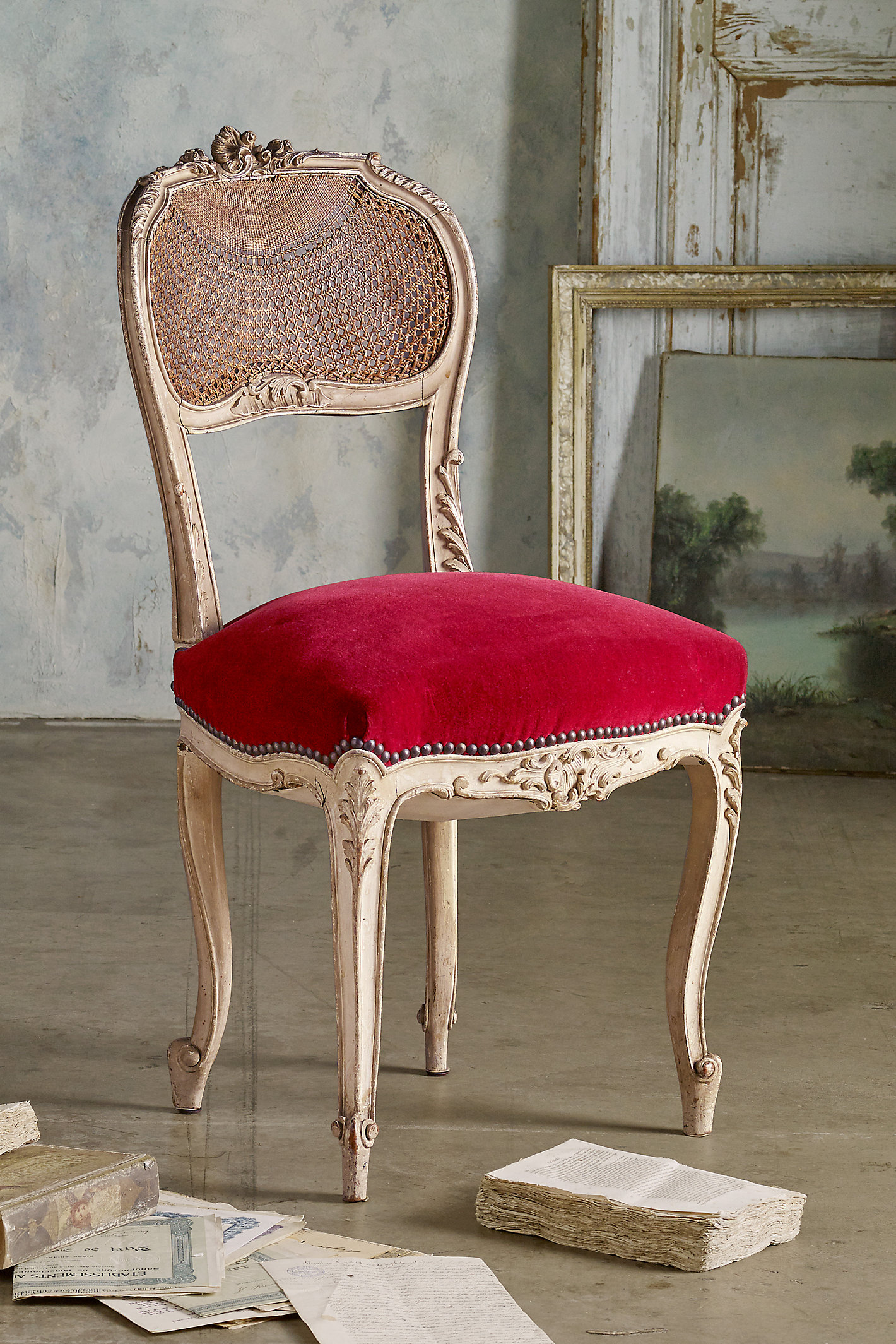 Rocaille Cane Back Side Chairs