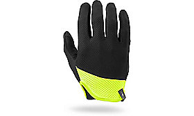 BODY GEOMETRY TRIDENT GLOVE LONG FINGER BLK/NEON YEL L