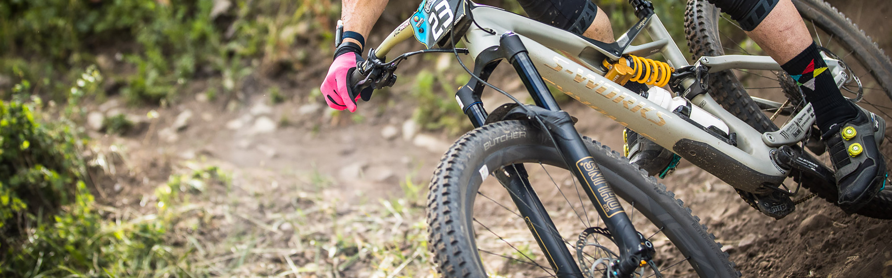 Suspension Mountain Bike Parts On To Absorb Bumps In A Road Shock Absorber With