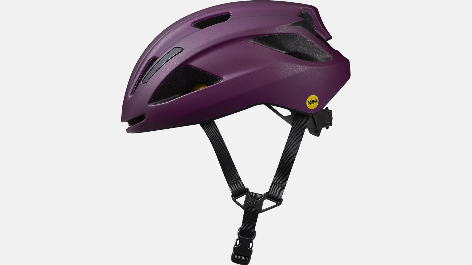 Purple colored Specialized MIPS helmet