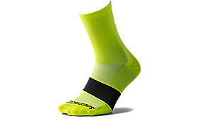 ROAD MID SOCK NEON YEL L