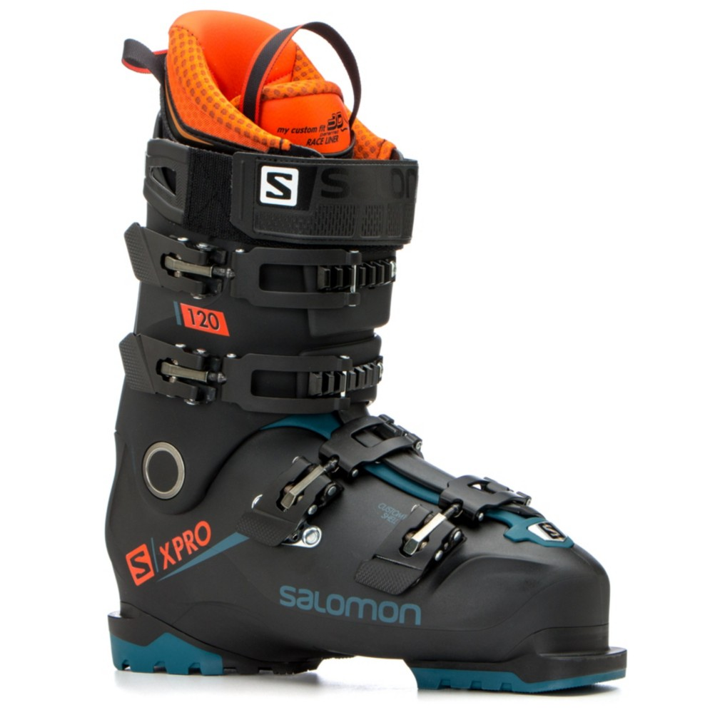 Salomon X Pro 120 Ski Boots 2019 27.5Black Moroccan Blue Orange