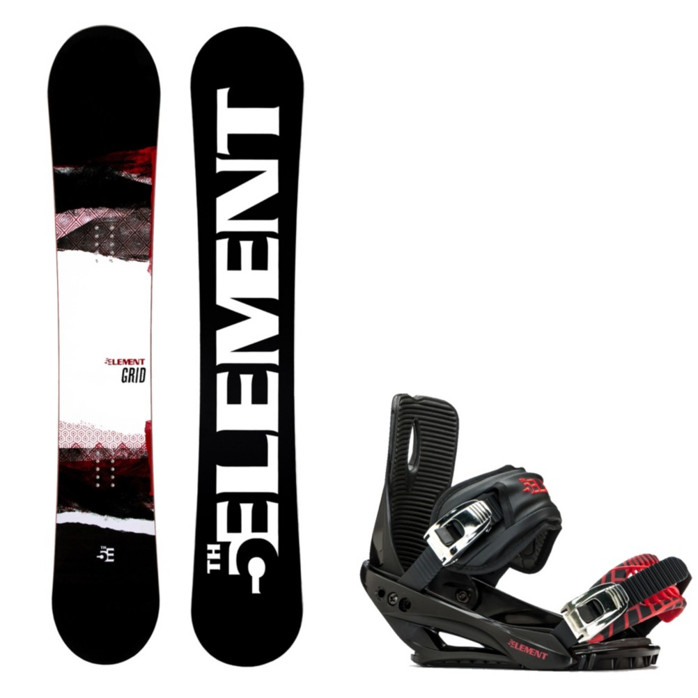 5th Element Grid Wide Snowboard And Binding Package 2020