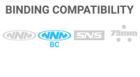 Binding Compatibility: NNN BC - Larger toe bar with 2 wider grooves on the sole of the boot