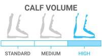 Calf Volume: High - accommodates shorter, thicker leg or fuller leg shape