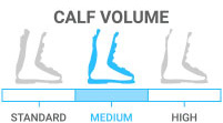 Calf Volume: Medium - neither standard nor high volume leg shape
