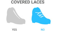 Covered Laces: No - Traditional laces like a boot or shoe
