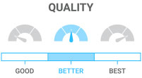 Quality: Better  - durable, usually insulated with some tech features