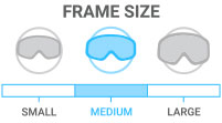 Frame Size: Medium - average depth, width, and height