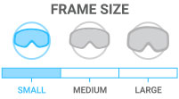 Frame Size: Small - narrower and shorter frame size