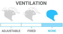 Ventilation: None - no vents therefore no air will filter through