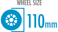 Size: 110mm - Diameter of the wheel