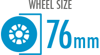 Size: 76mm - Diameter of the wheel