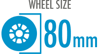 Size: 80mm - Diameter of the wheel