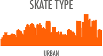 Skate Type: Urban - built for the city and zipping around busy sidewalks