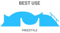 Best Use: Freestyle boards are designed for doing tricks in the park