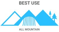 Best Use: All Mountain - for general cruising anywhere on the mountain