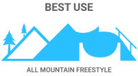 Best Use: All-Mountain Freestyle - everything from peak to park
