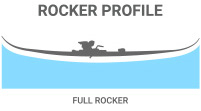 Rocker Profile: Full Rocker for playful freestyle and powder skiing