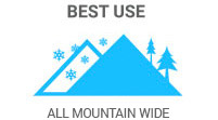 Best Use: All Mountain Wide skis are one-quiver for on/off-trail