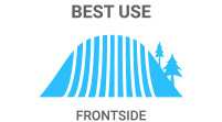 2015 Atomic Cloud Nine ARC Ski Best Use: Frontside skis are narrow for carving on-trail