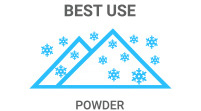 Best Use: Powder skis have lots of rocker and max float in the pow