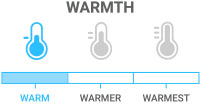 Warmth: Warm - Lightweight insulation for mild conditions