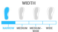 Width: Narrow - boot width of 95-99mm; ideal for racers and experts